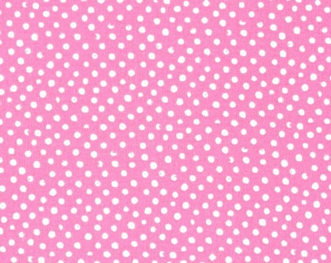 Dear Stella Confetti Dots Fabric by the Yard Pink Cotton Quilting Fabric Whimsical Polka Dot Nursery Baby Girl Blender Crafting Home Decor