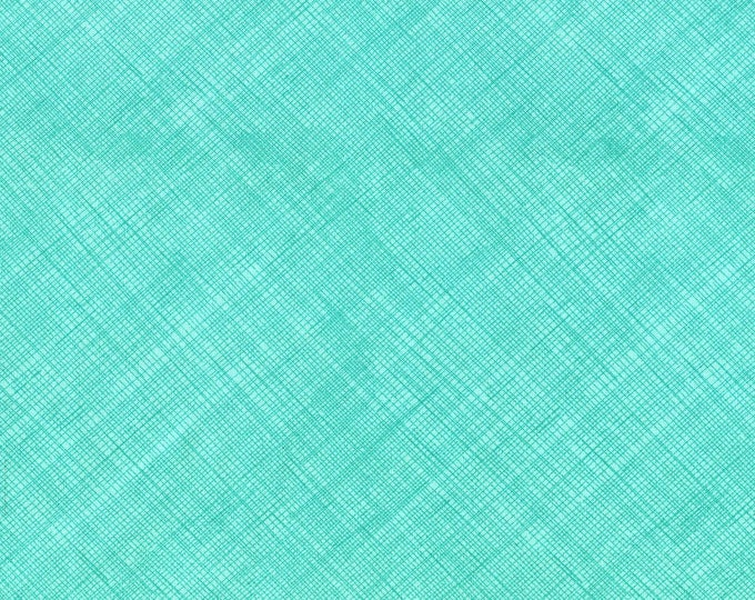 Fabric by the Yard Timeless Treasures Hatch Surf Cotton Quilting Fabric Aqua Green Tone on Tone Blender Apparel Home Decor