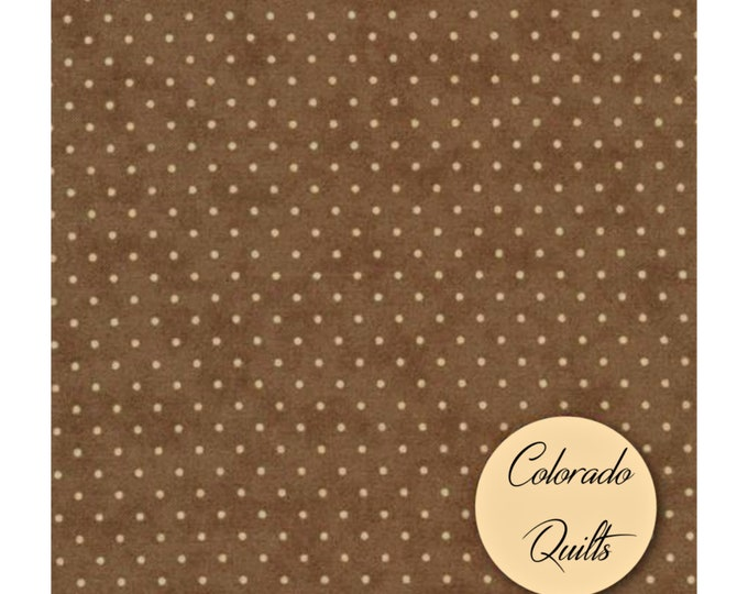 Fabric by the Yard Moda Essential Dots Brown Cotton Quilting Fabric Kids Polka Dot Crafting Home Decor Tonal Blender