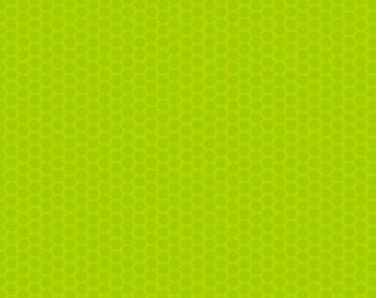 One-Half Yard Remnant Riley Blake Honeycomb Dots Lime Cotton Quilting Fabric Tonal Blender Sewing Apparel Home Decor