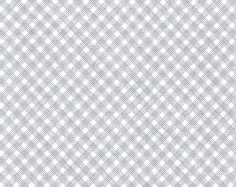 Fabric by the Yard Timeless Treasures Fun Grey White Bias Plaid Check Cotton Quilting Fabric Baby Nursery Home Decor Apparel