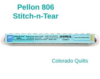 Pellon 806 Stitch 'n' Tear  Fusible Paper-Backed Web By the Yard Interfacing Stabilizer for Applique Home Decor Crafting Apparel