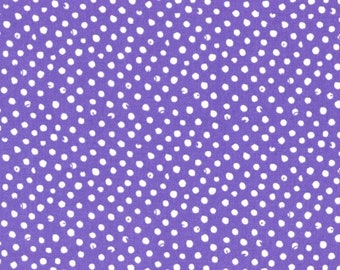 Dear Stella Confetti Dots Fabric by the Yard Purple Cotton Quilting Fabric Whimsical Polka Dot Nursery Girl Crafting Home Decor Blender