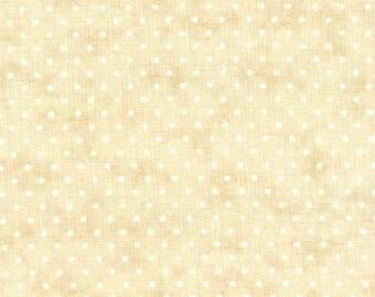 Fabric by the Yard Moda Essential Dots Eggshell Ivory Ecru Cotton Quilting Fabric Nursery Whimsical Polka Dot Nursery Baby Crafting