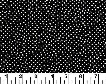 Fabric by the Yard Dear Stella Mini Confetti Dots Black Cotton Quilting Fabric Halloween Whimsical Polka Dot Blender Crafting Home Decor