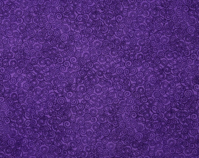 Fabric by the Yard Timeless Treasures Jazz Violet Purple Cotton Quilting Fabric Abstract Print Whimsical Home Decor Crafting