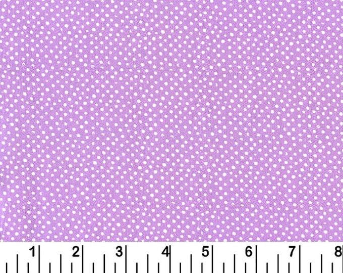 Dear Stella Mini Confetti Dots Fabric by the Yard Lilac Cotton Quilting Fabric Nursery Whimsical Lavender Polka Dot Nursery Baby Girl