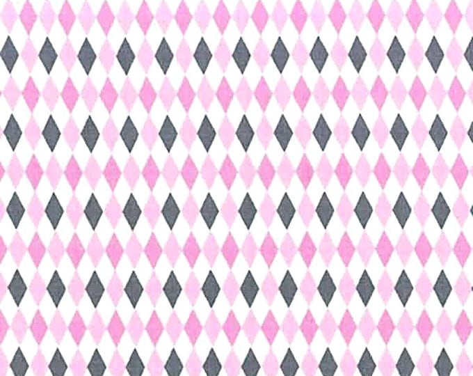 One Yard Michael Miller Fabric Here Kitty Kitty Mini Harlequin Princess Orchid Remnant Cotton Quilting Fabric Grey Gray Destash