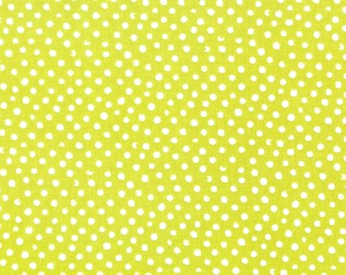 Dear Stella Confetti Dots Fabric by the Yard Grass Green Cotton Quilting Fabric Whimsical Polka Dots Nursery Kids Blender Fabric