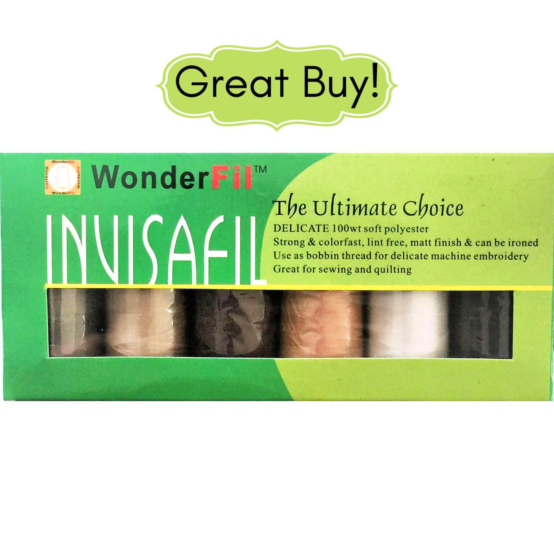 Invisafil Thread by Wonderfil Mini Pack B002 100 Weight Ultra Fine