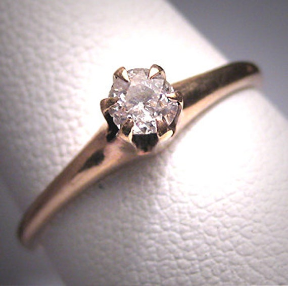 Antique Diamond Wedding Ring 19th Century Victoria