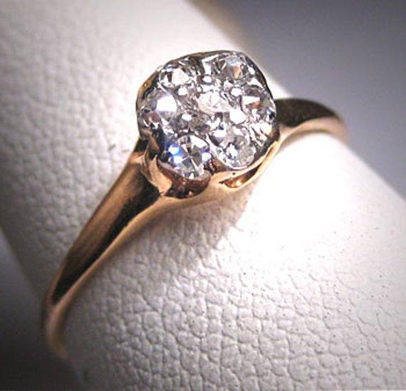 Antique Diamond Wedding Ring Platinum Victorian De