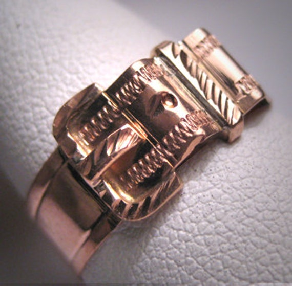 Antique Victorian Buckle Band Ring Wedding Vintage