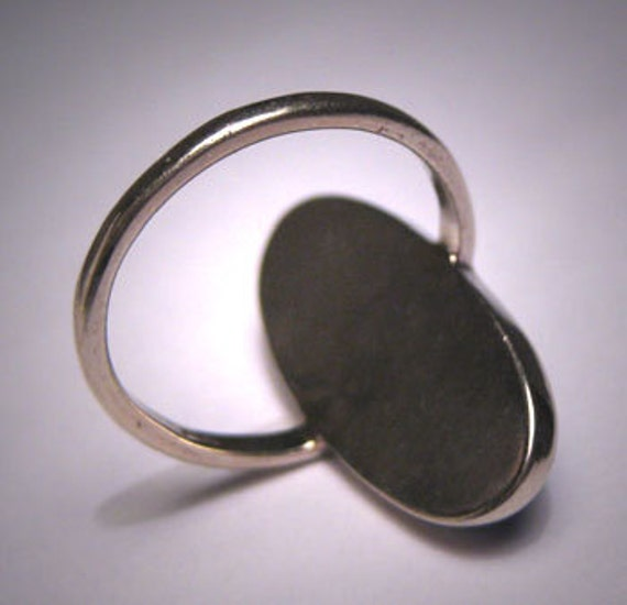 Antique Lapis Ring Victorian Arts and Crafts Whit… - image 5