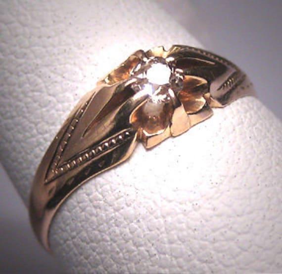 Antique Wedding Ring Mine Cut Diamond Ring Victori