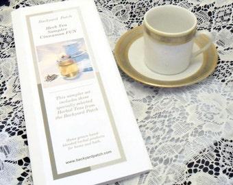 Sampler of  all 5 Tea Samplers - Hostess Special - each a set of 3 herb teas, cinnamon, chamomile, mint, lavender