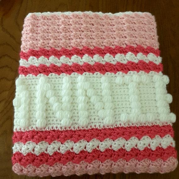 Baby Girl Crochet Blanket With Name
