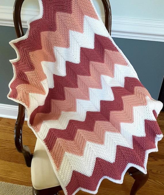 Häkeln Sie Baby Decke Baby Mädchen Decke Häkeln Ripple Decke | Etsy