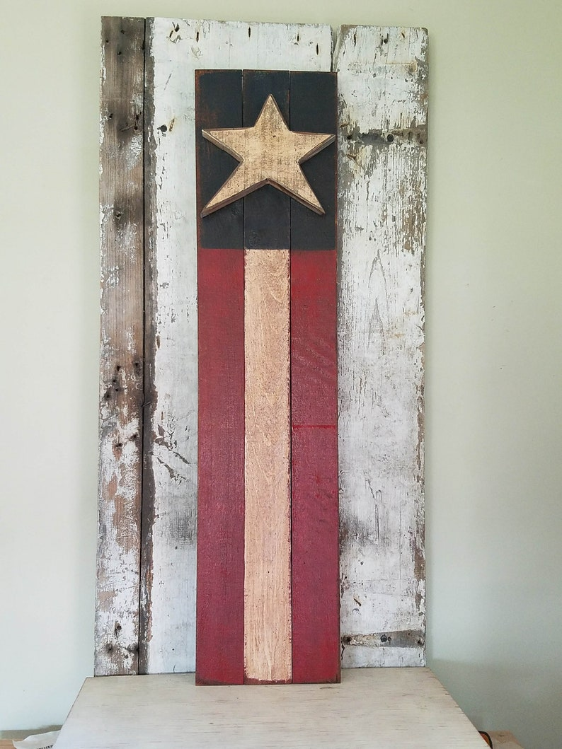 eef9a0cc637 Barn Board Americana Flag Primitive Americana Patriotic Decor