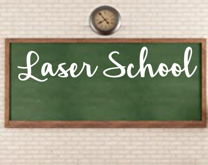 Laser School - Zoom laser class for  Children or adults  - 45 minute class designing and using a laser