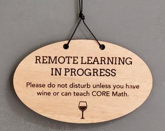 Remote Learning door hanger