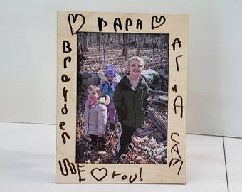 Fathers Day Frame for Papa Padre Dad Grandpa Uncle Step Dad
