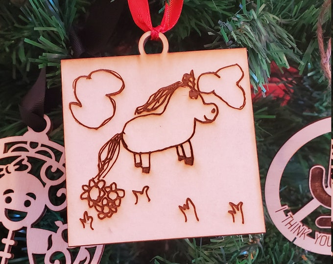 Zoom class Children design ornaments (template)  - 45 minute class playing with a laser