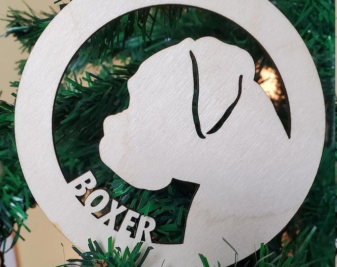 Doggie Wood Christmas Ornament