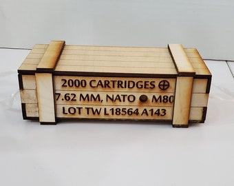 Ammo crate miniature gift box.
