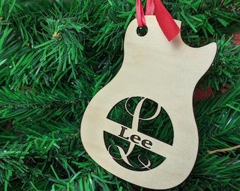 Guitar ornament or guitar bag tag - customized