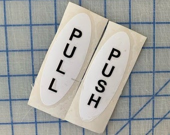 Push Pull sign / door push / open sign / closed sign / enter sign / exit sign / single sided