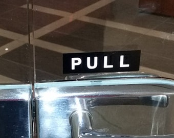 Push push sign / pull sign / push sign/ open / closed / double sided