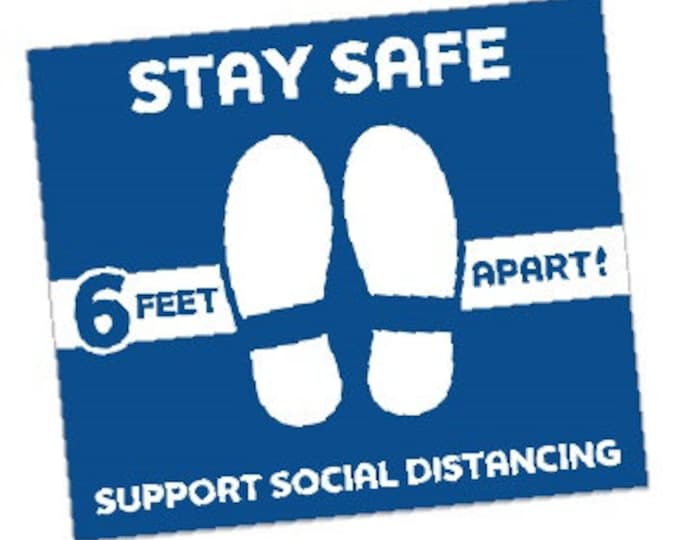 Physical Floor Decals for social distancing