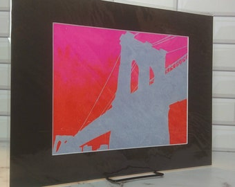 NYC landmark - Brooklyn Bridge Neon