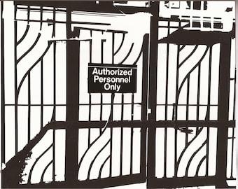 NYC landmark - Subway station gate