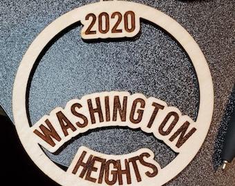 Washington Heights (upper manhattan) ornaments