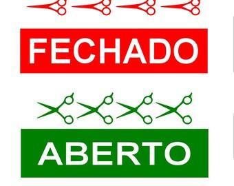 Open closed sign / aluminum sign / closed sign / open sign / store sign / flip sign / fechado sign / cerrado sign / flip sign / store sign