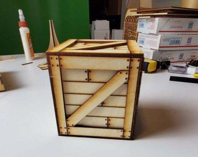 Crate miniature gift box.