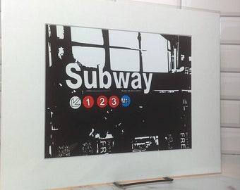 NYC landmark - Subway 1 2 3