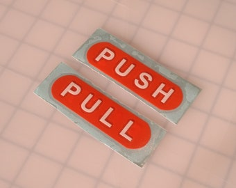 Push Pull sign / door push / open sign / closed sign / enter sign / exit sign / double sided