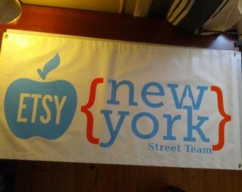 Vinyl Banner / banner sign / plastic banner / birthday sign / congratulations sign / custom sign /  Happy anniversary sign