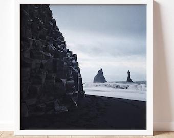 Iceland | Fine Art Photography Print | Nature Photography | Wall Art | Iceland Wall Art | Travel Lover | Black Sand| Multiple Sizes