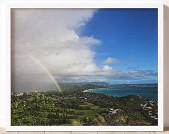Hawaii | Fine Art Photography Print  | Rainbow Art | Travel & Nature Photography | Wall Art | Lanikai Beach | Colorful | Hawaii Art | Oahu