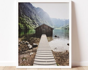 Obersee | Berchtesgaden Fine Art Photography Print  | Travel Photograph | Germany | Color Photograph | For Hiker | Konigssee Art Prints