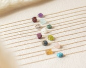Raw Crystal Necklace Birthstone Necklace Gemstone Necklace Raw Stone Necklace Family Necklace Birthday Gift for Her Terra