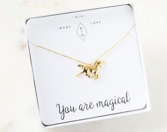 Unicorn Necklace | Unicorn Birthday | Unicorn Party | Birthday Gift | Horse Necklace | Unicorn Gift | Best Friend Gift | Unicorn Charm