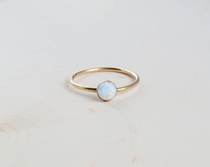 Featured listing image: Dainty Opal Gemstone Ring