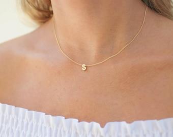 Gold letter necklace   Etsy