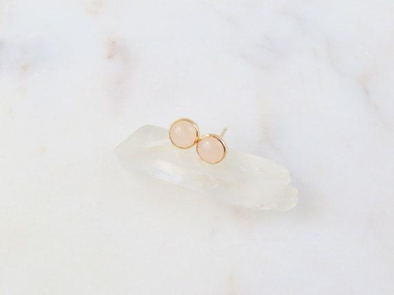 Rose Quartz Studs | Gemstone Earrings | Rose Quartz | Stud Earrings | Birthday Gift | Silver Earrings | October Birthstone | Gift For Her