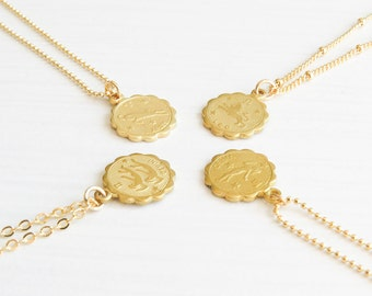 Dainty Zodiac Necklace | Zodiac Necklace | Delicate Zodiac Necklace | Gold Zodiac Necklace | Horoscope Necklace | Birthday Gift